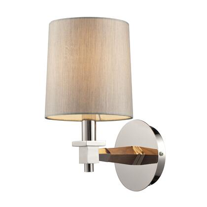 31330/1 Jorgenson 1 Light Sconce in Taupe Wood and Polished