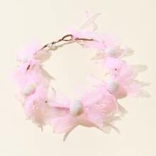 Maedchen Haar Accessory mit Blumen & Shale Dekor