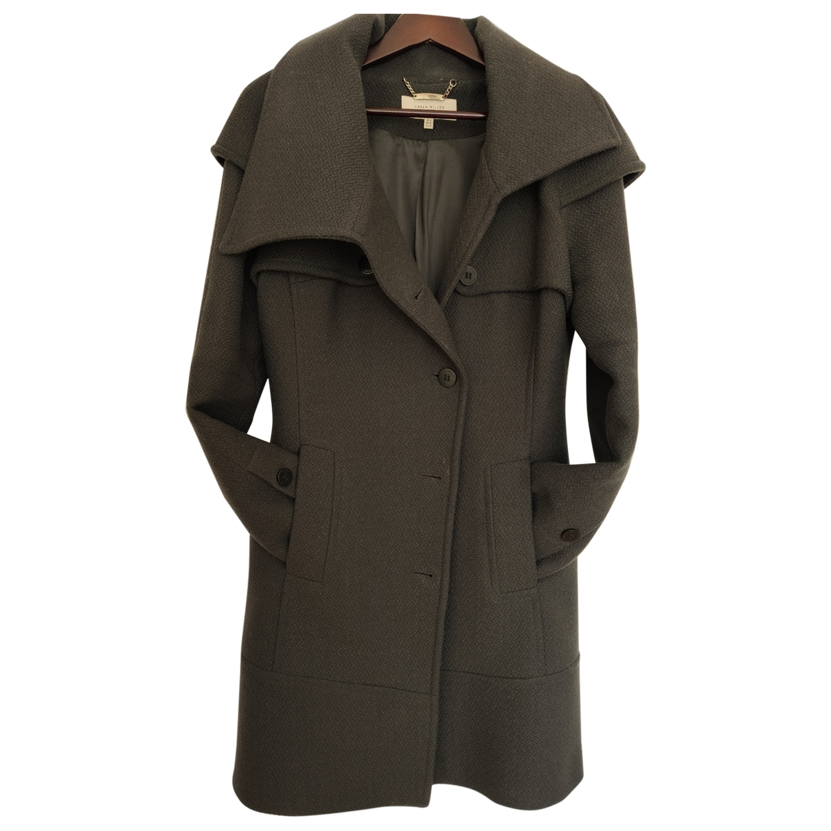 Karen Millen \N Grey Wool coat for Women 14 UK