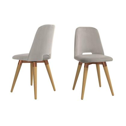 Selina Collection 2-1020562 Set of 2 Accent Chairs with Contemporary Modern Style  Medium-Density Fiberboard (MDF) Frame  Solid Pine Wood Feet and