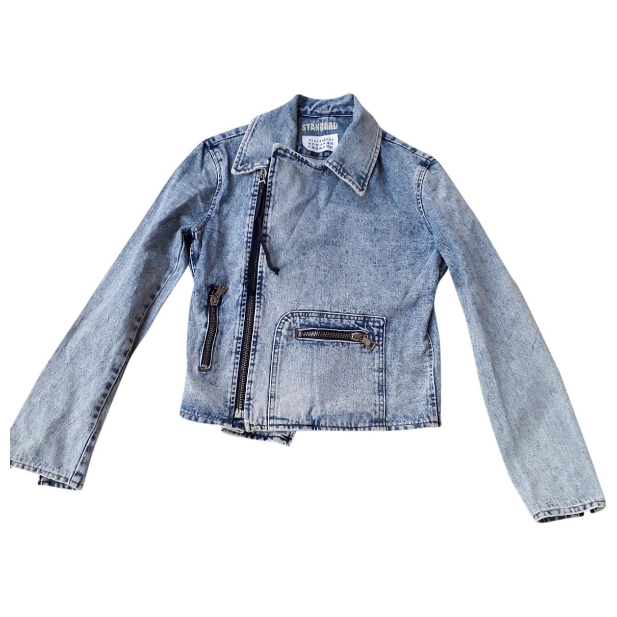 Mm6 - Veste   pour femme en denim - bleu