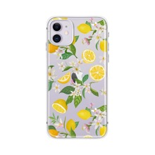 Floral & Lemon Print Phone Case