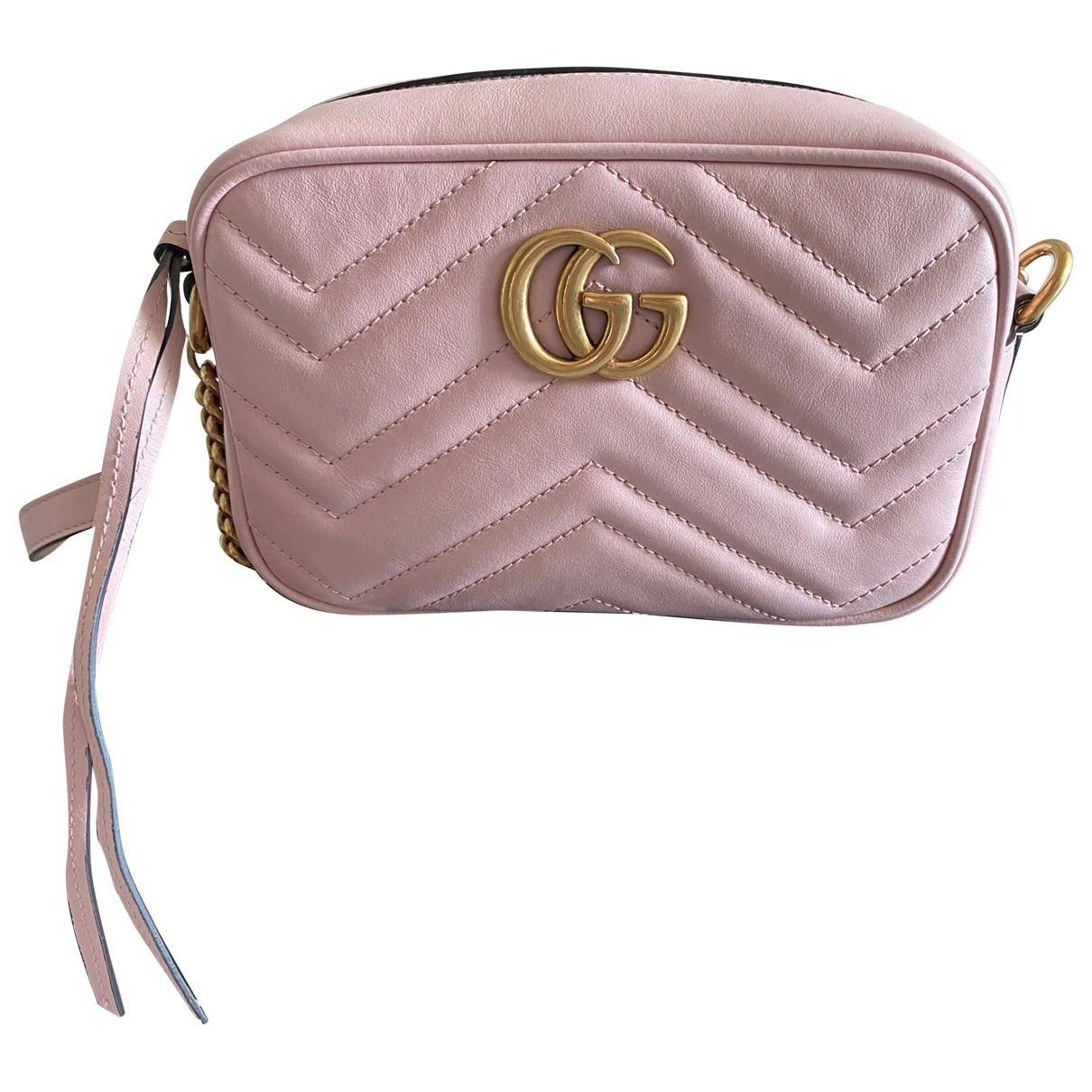 Gucci - Sac a main Marmont pour femme en cuir - rose