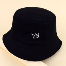 Kids Crown Embroidered Bucket Hat