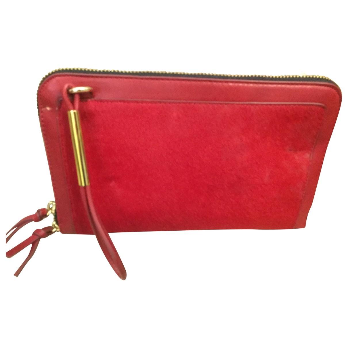 Zara \N Handtasche in  Rot Fell