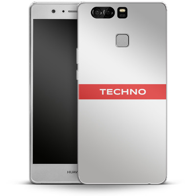 Huawei P9 Silikon Handyhuelle - RED LINE von Berlin Techno Collective