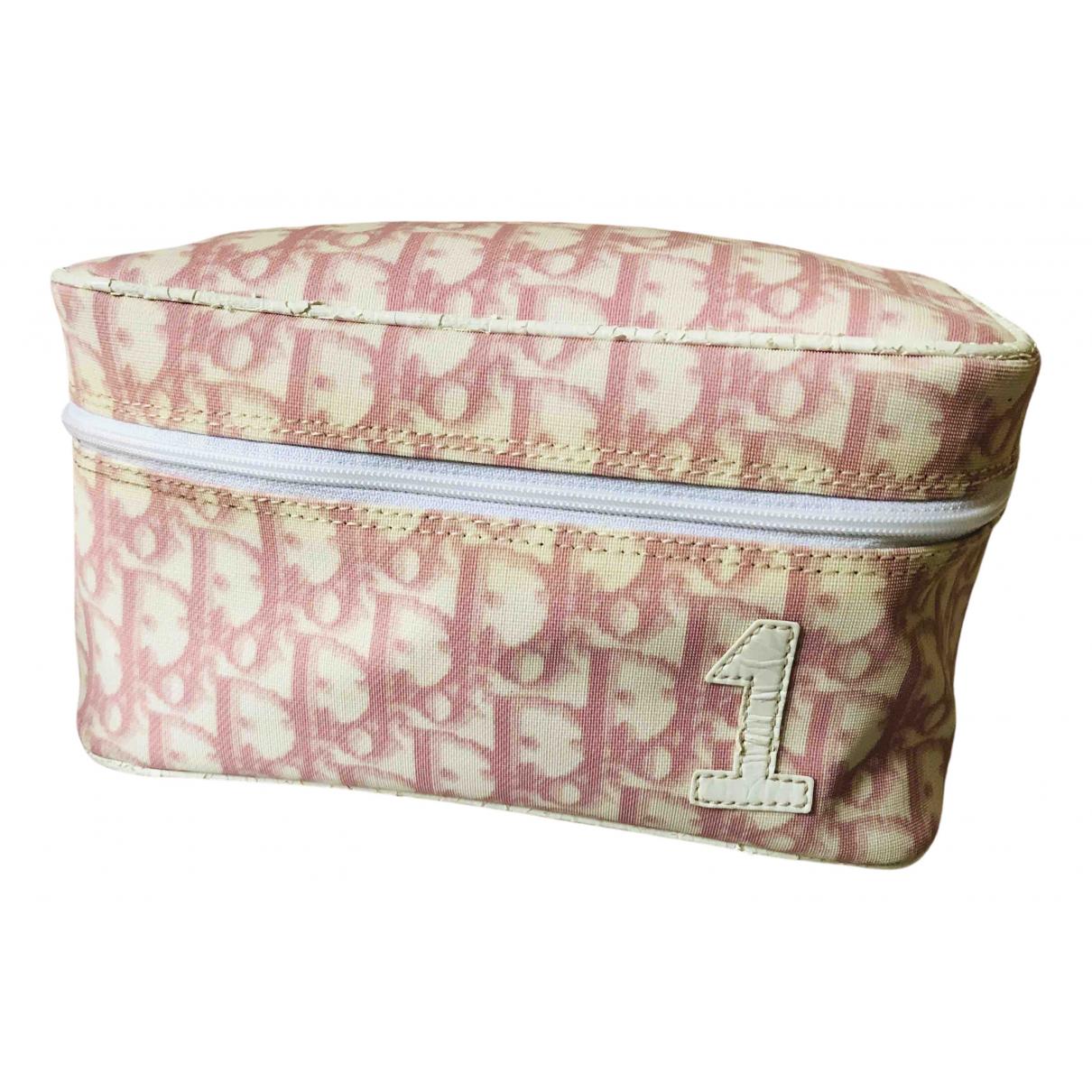 Dior \N Reisetasche in  Rosa Leinen