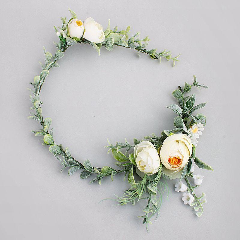 Ericdress Artificial Flowers Leaves Wedding Wreath