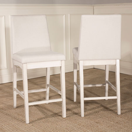 Hillsdale House Clarion Bar Stool, One Size , White