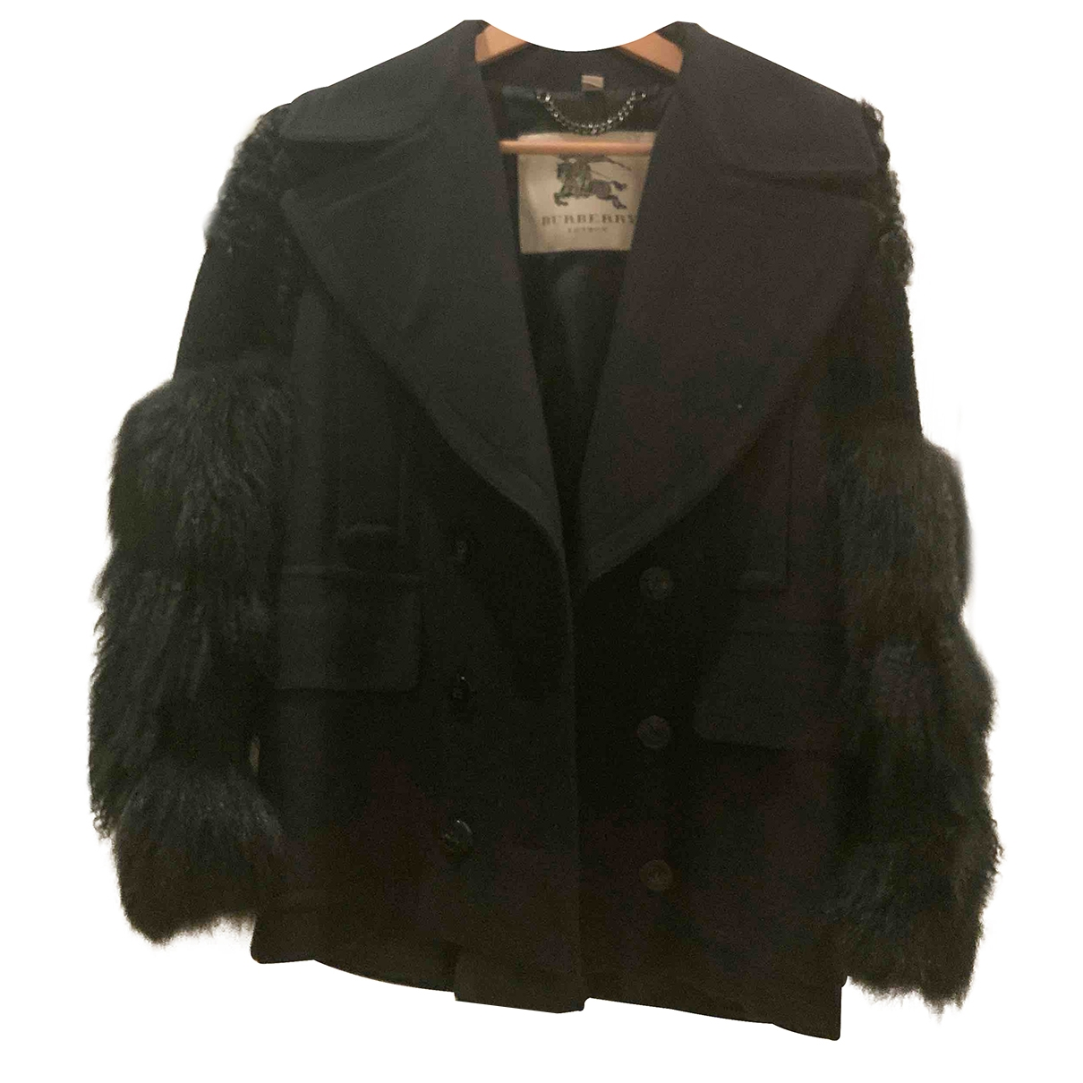 Burberry \N Black Fur coat for Women 38 IT