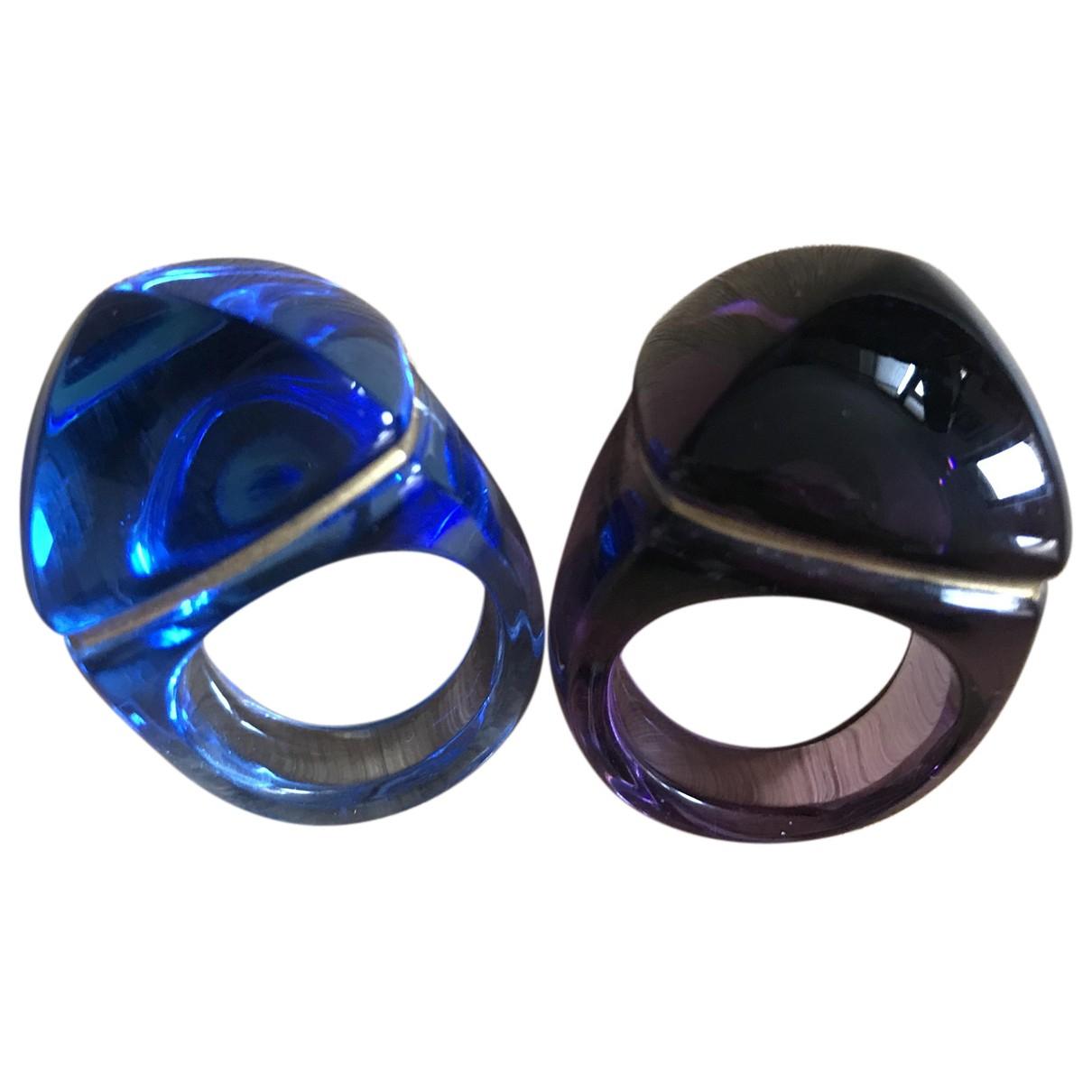 Baccarat - Bague   pour femme en verre - bleu