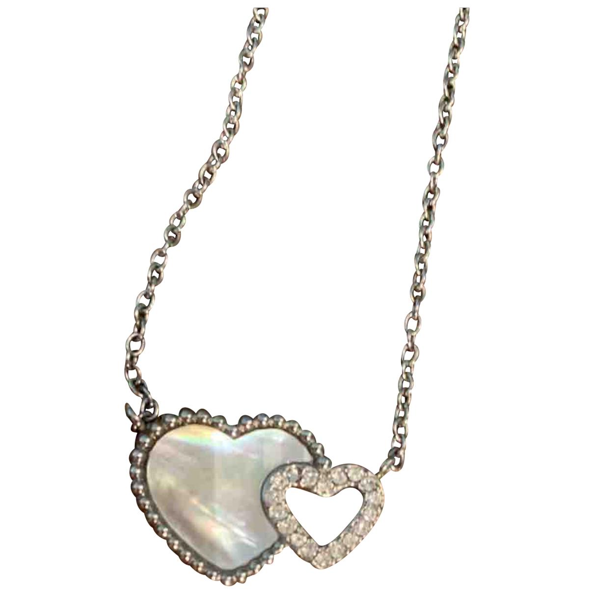 - Collier Motifs Coeurs pour femme en acier - argente