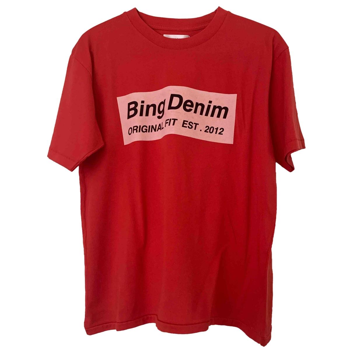 Anine Bing - Top   pour femme en coton - rouge
