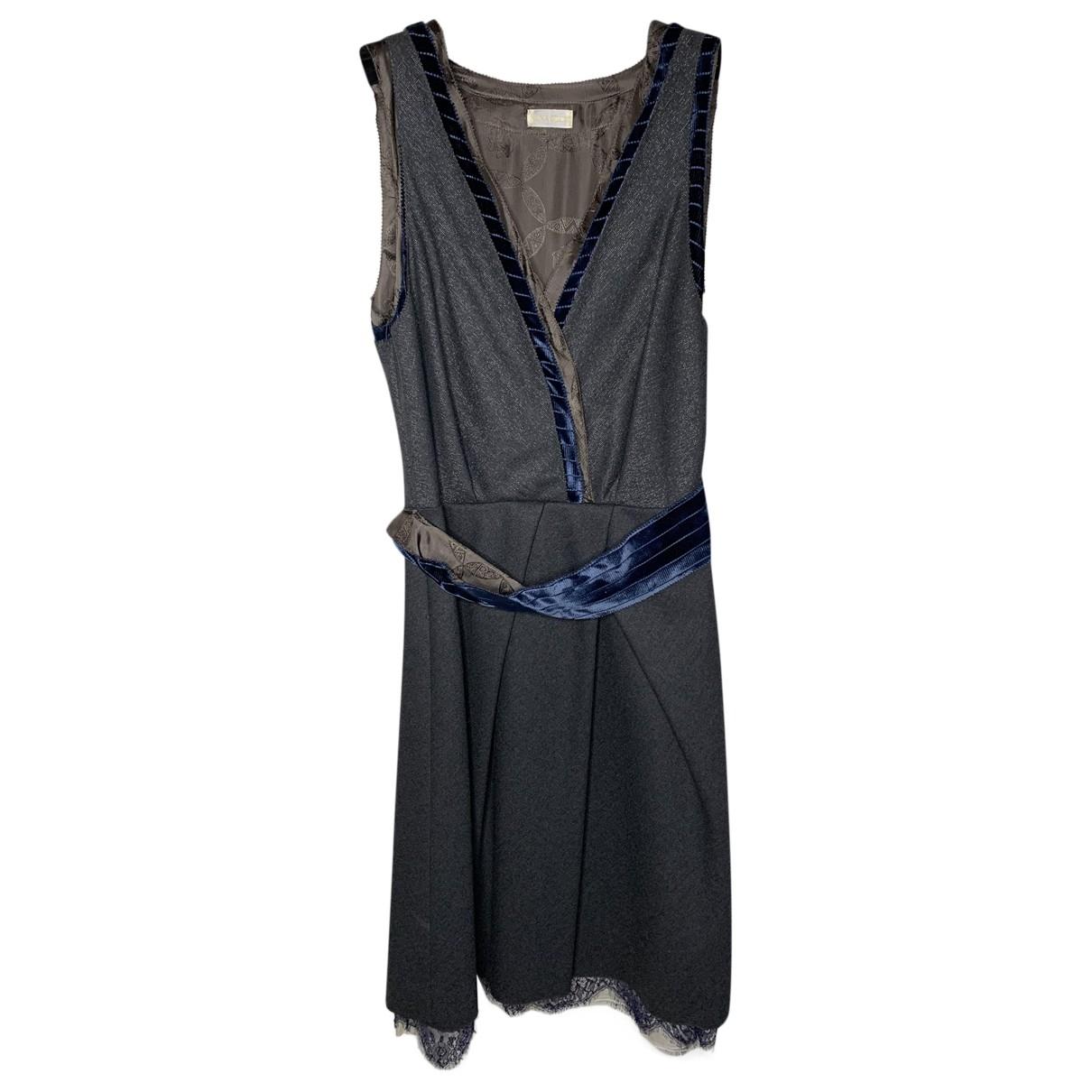 Nina Ricci \N Kleid in  Grau Wolle