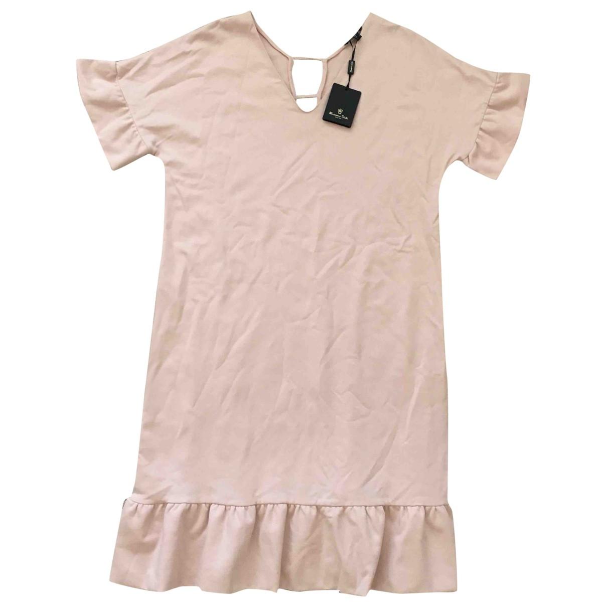 Massimo Dutti \N Kleid in  Rosa Baumwolle - Elasthan