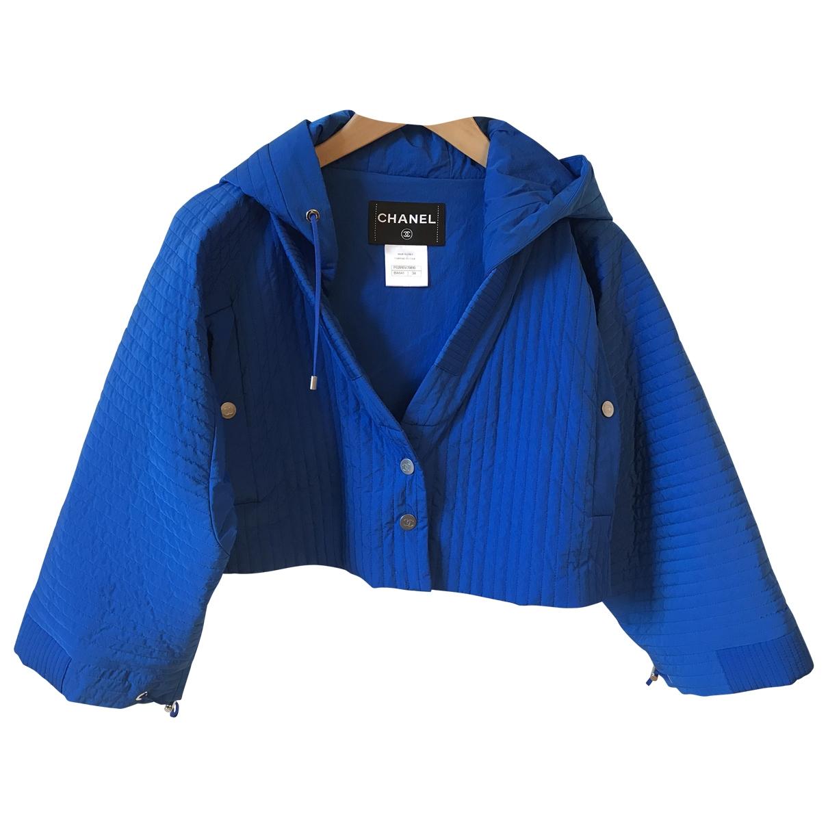 Chanel \N Jacke in  Blau Polyamid