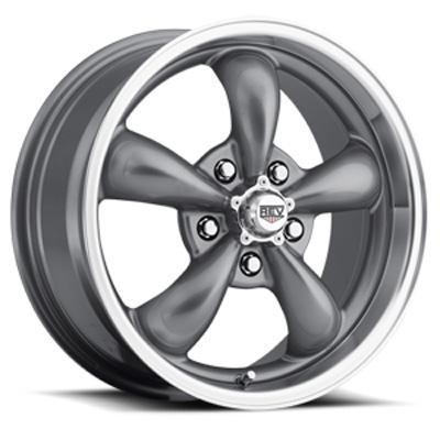 Classic 18X9 5X120.65 00MM Silver 29 Lbs Anthracite Aluminum Wheels 100 Classic Series REV Wheels 100S-8906100