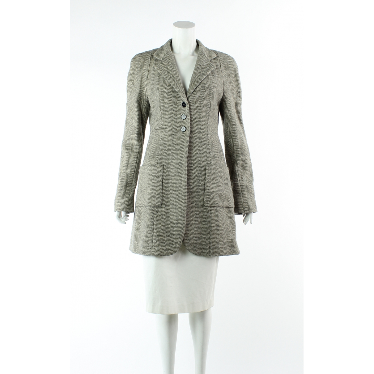 Balenciaga \N Trench in  Beige Wolle