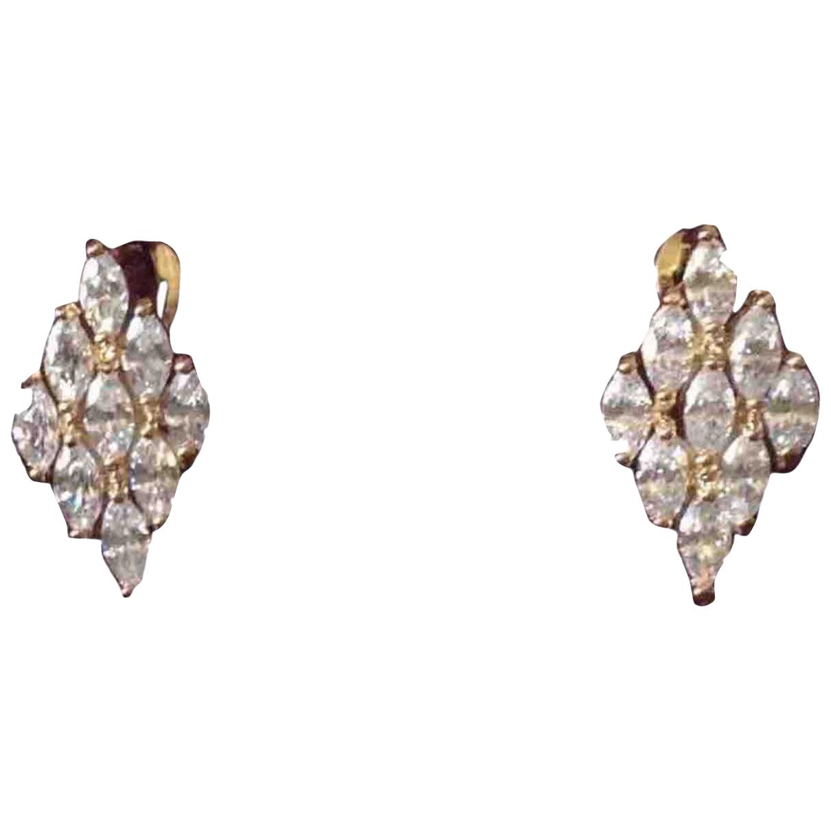 - Boucles d'oreilles Dormeuses pour femme en plaque or - dore