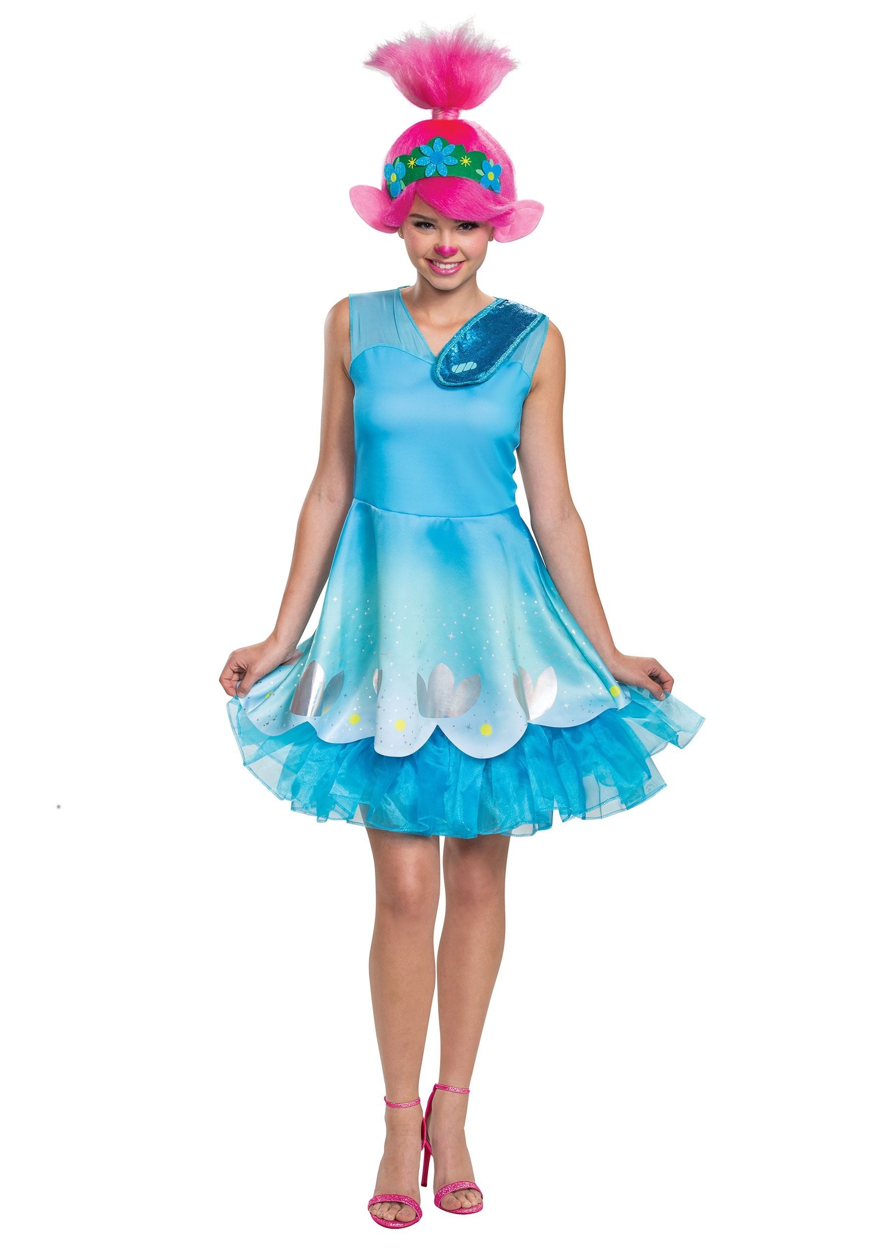 Women's Trolls World Tour Poppy Costume | Princess Poppy Halloween Costume