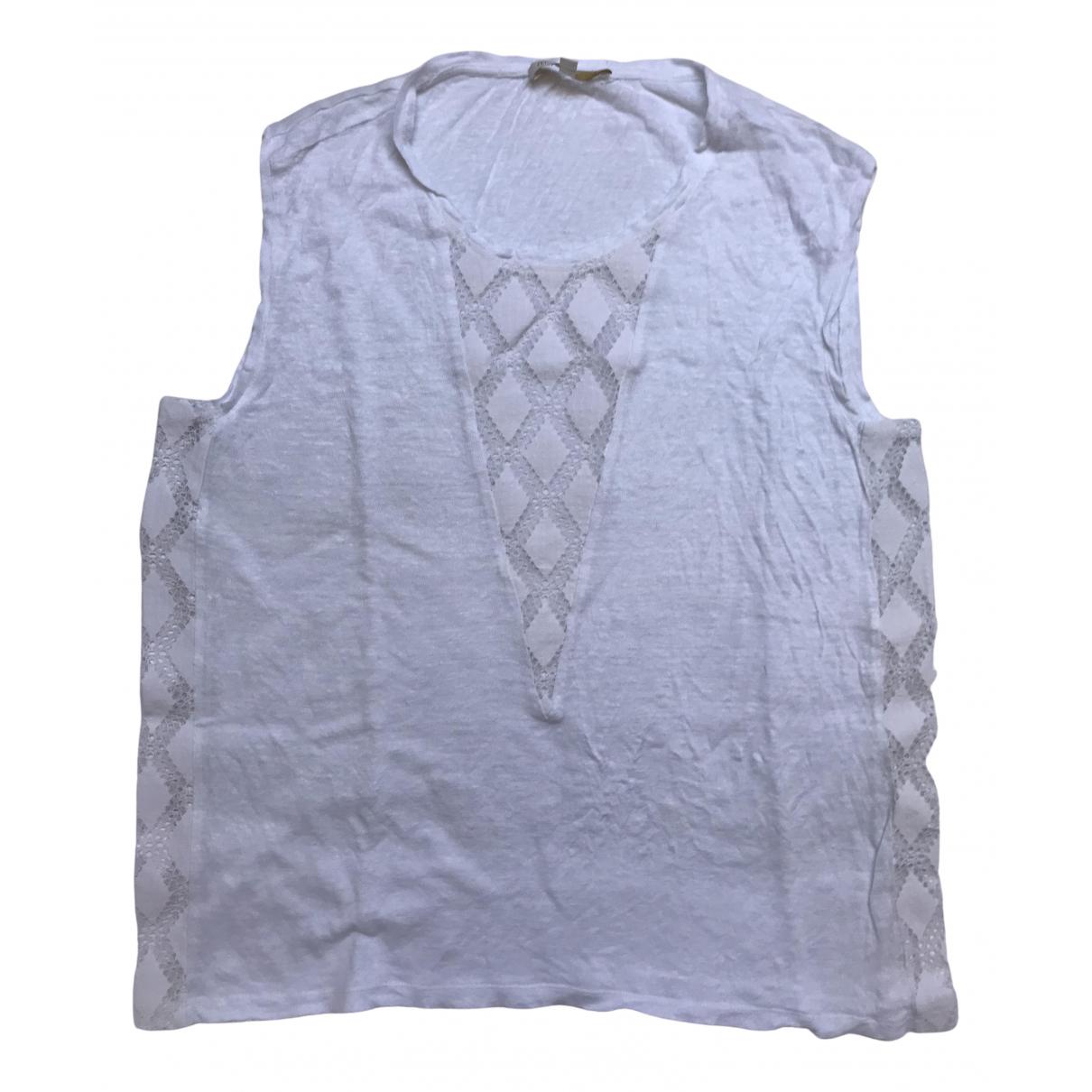 Maje \N White Linen  top for Women L International