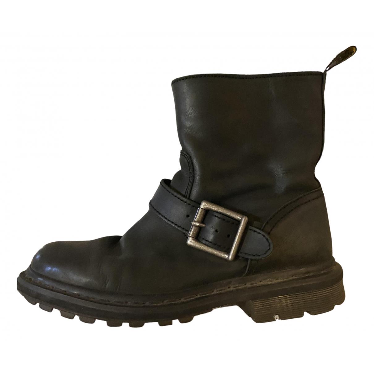 Dr. Martens - Bottes   pour femme en cuir - noir