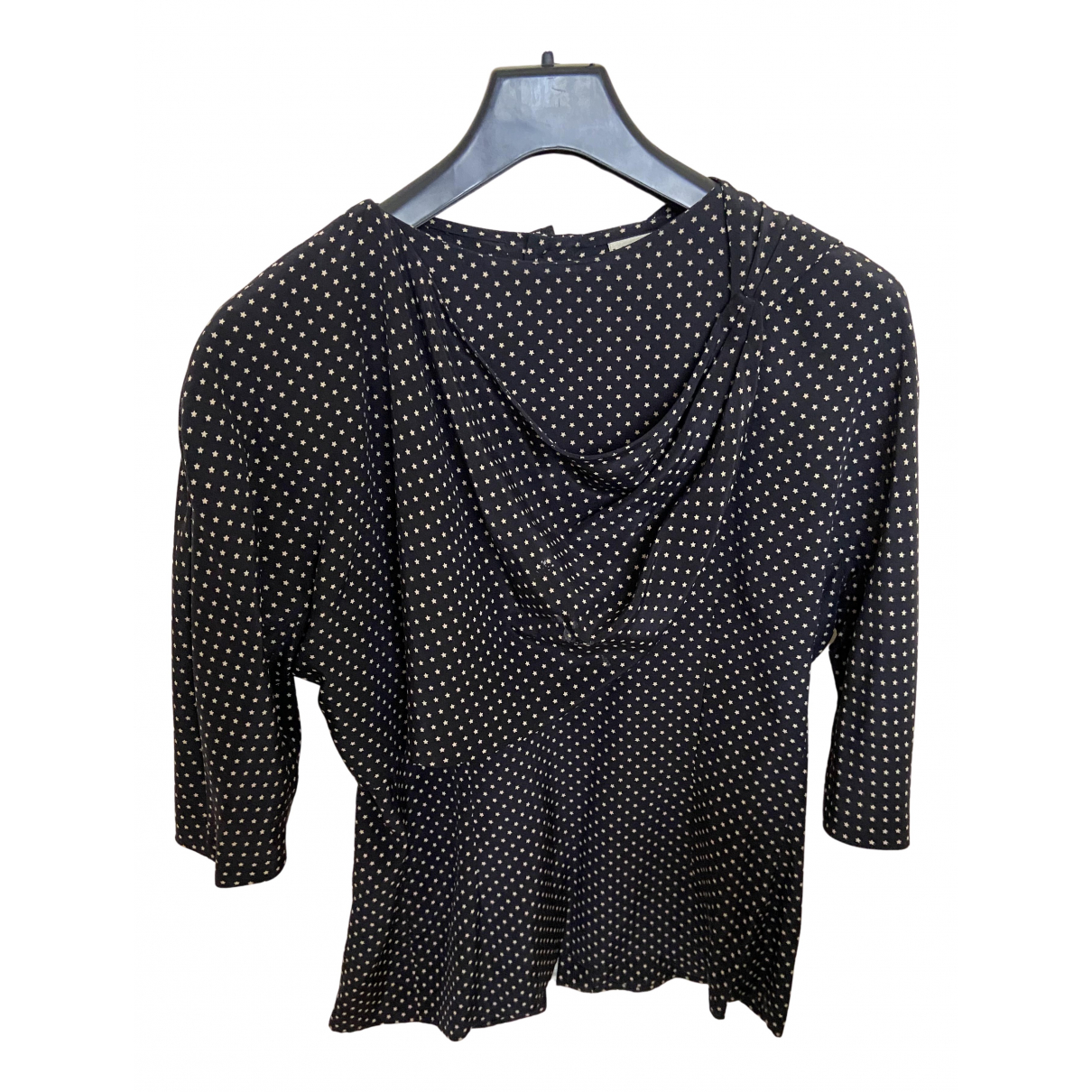 Krizia N Black Silk  top for Women 42 IT