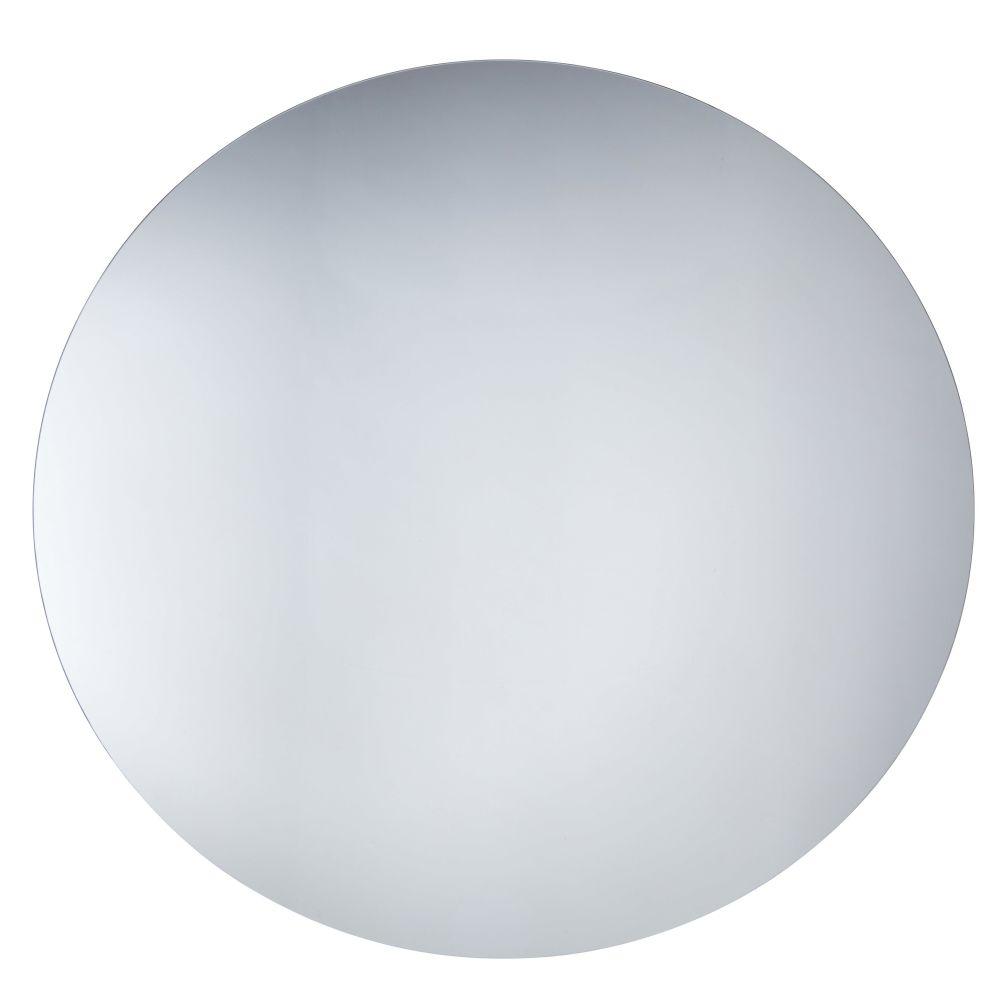 Runder Spiegel aus Rauchglas D.120