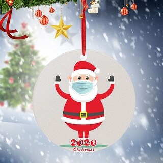 2020 Christmas Ornaments Hanging Decoration Gift 4PC - 3.93x5.9x1.96 inch (E)
