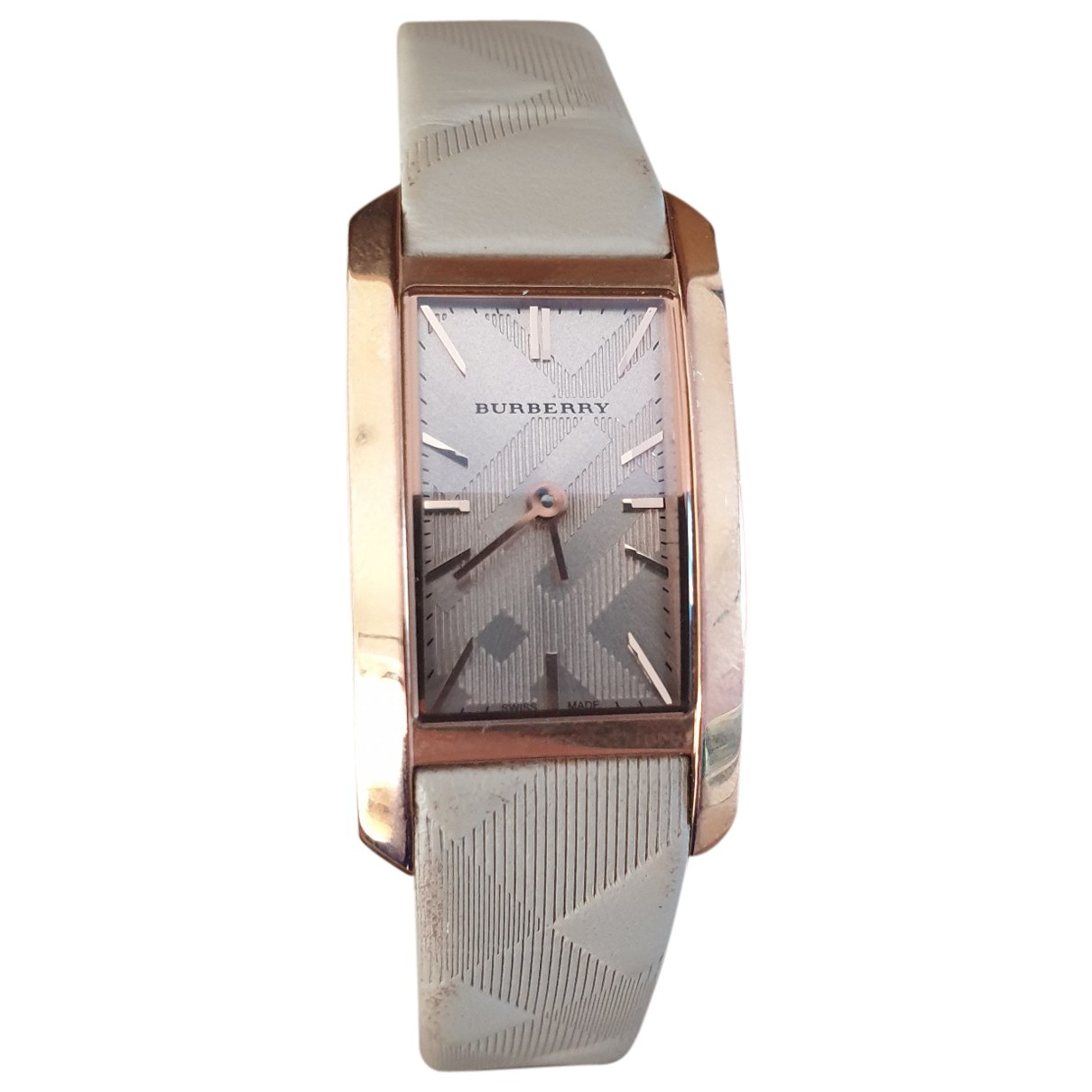 Burberry \N Uhr in  Gold Stahl