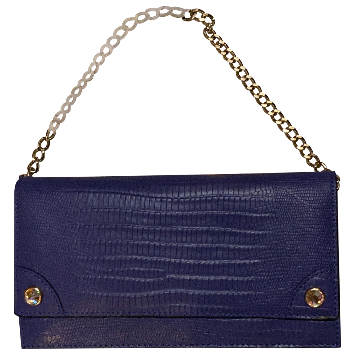 Juicy Couture \N Clutch in  Lila Leder