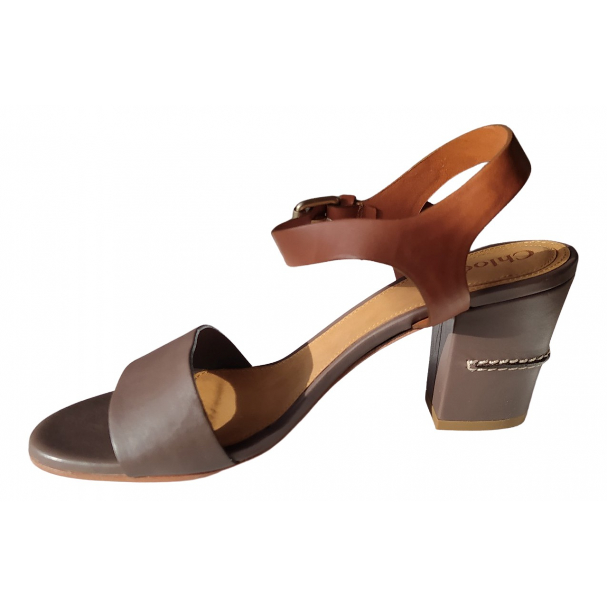 Chloé \N Brown Leather Sandals for Women 37.5 EU