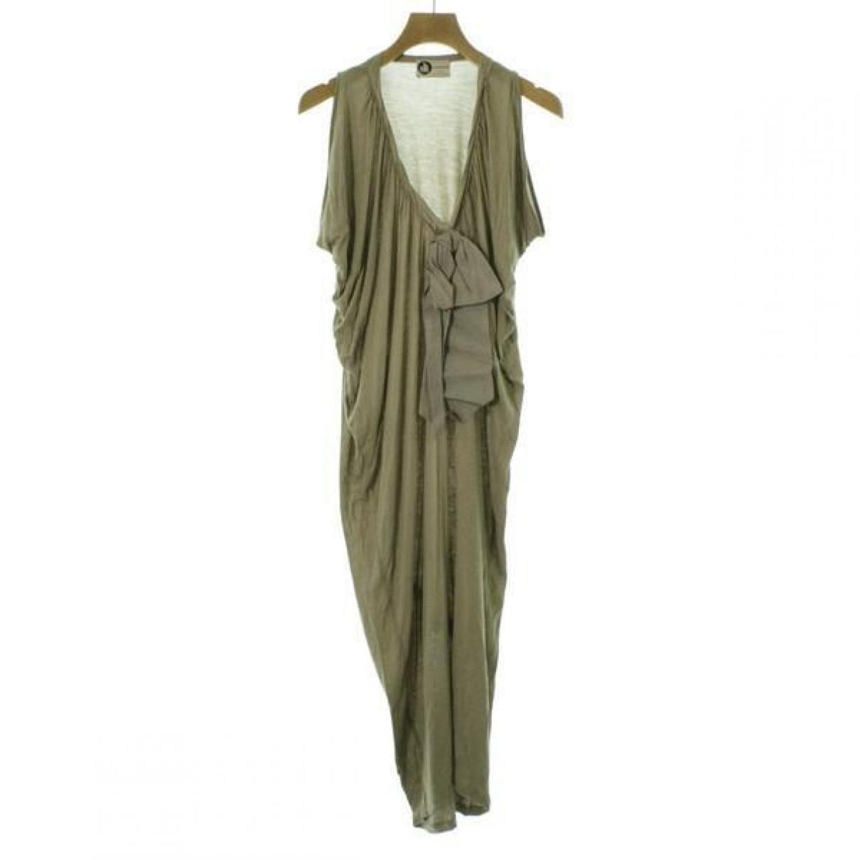 Lanvin \N Beige Silk dress for Women S International