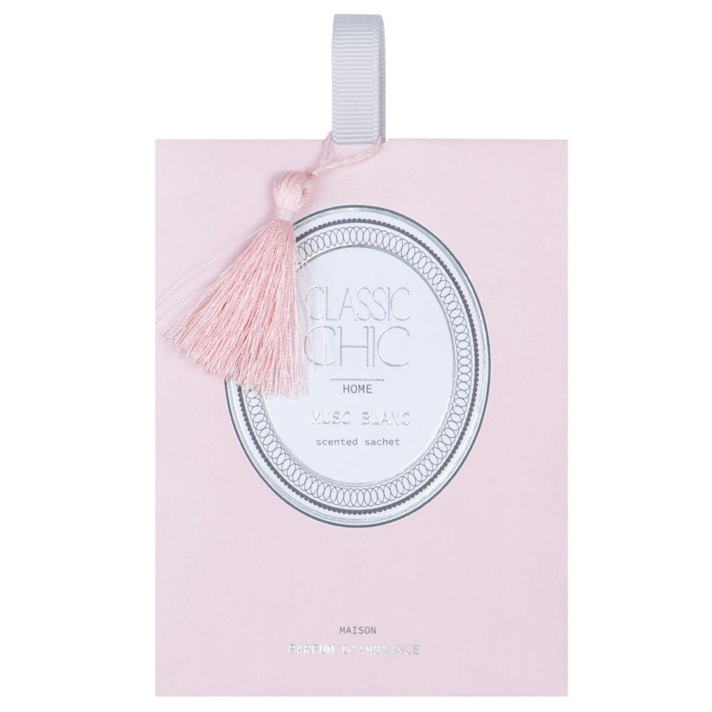 Duftsaeckchen, rosa, weiss und silberfarben