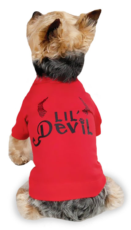 Zack & Zoey Halloween Lil' Devil Tee Red - S/M (14
