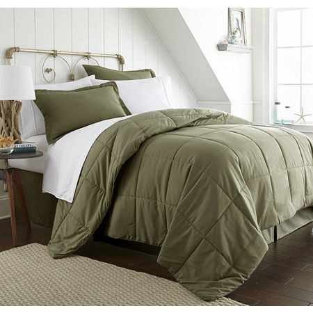 Ienjoy Home Casual Comfort Premium Ultra Soft Complete Bedding Set with Sheets, One Size , Green