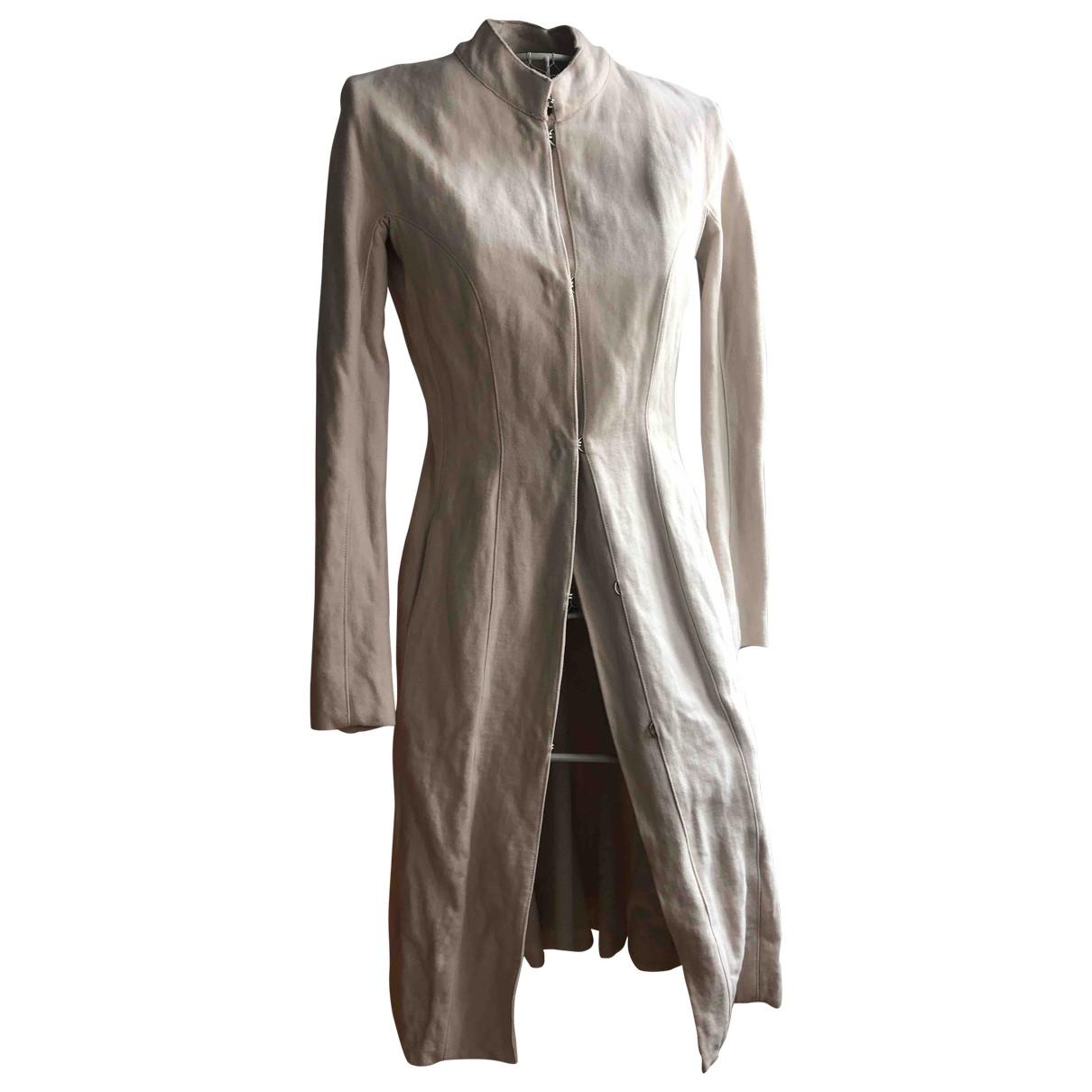 Lanvin \N Ecru Wool coat for Women 36 FR