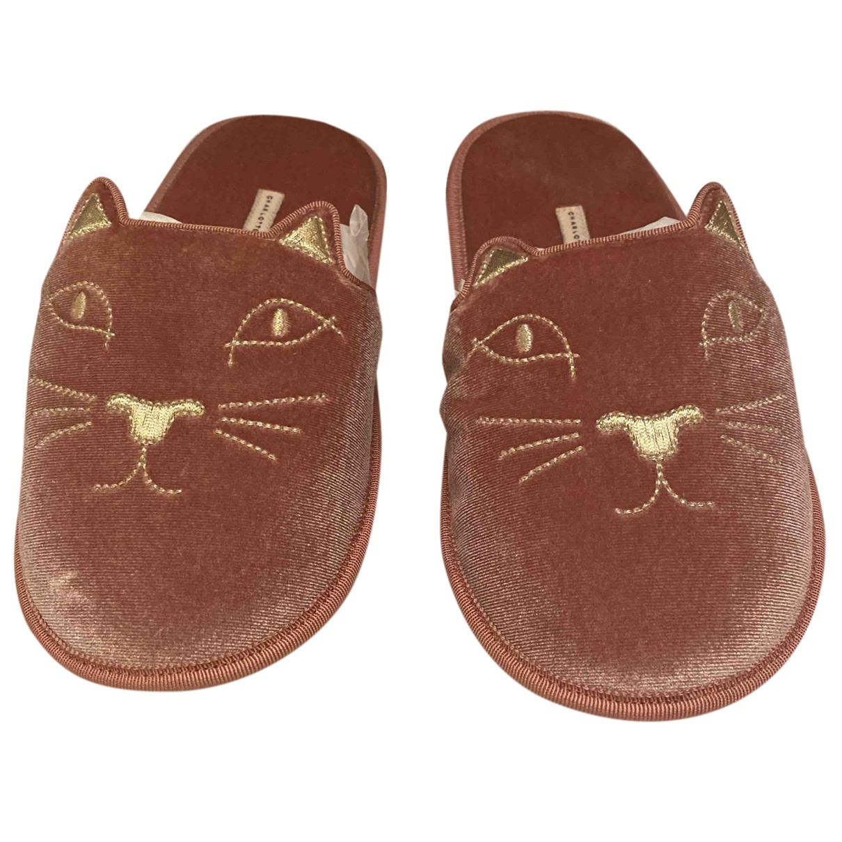 Charlotte Olympia Kitty Pink Suede Sandals for Women 36 EU