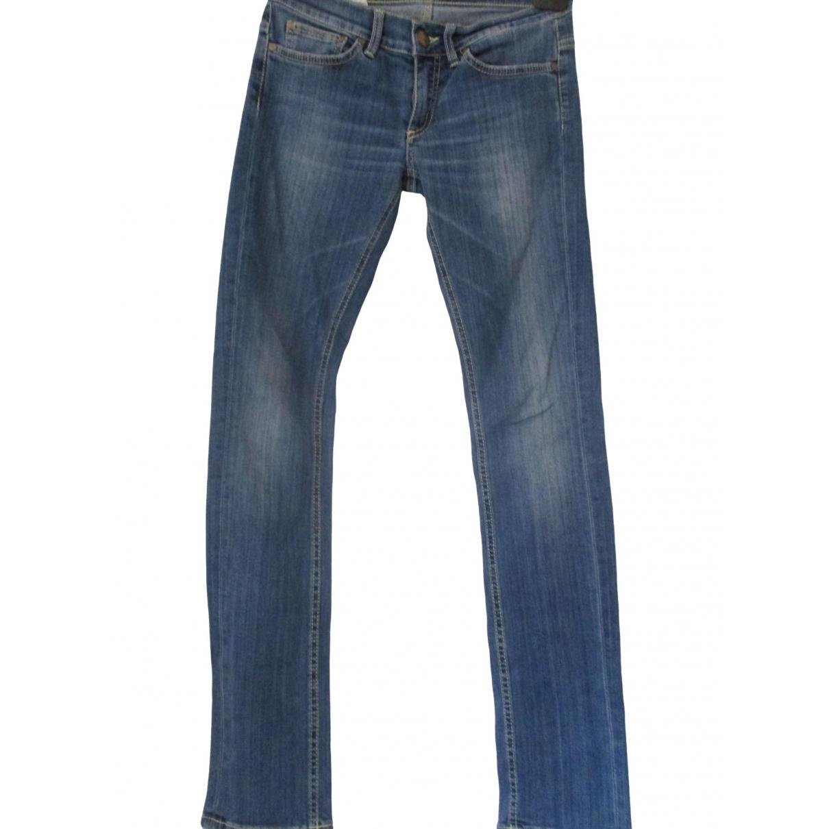Dondup \N Blue Denim - Jeans Trousers for Women 40 IT