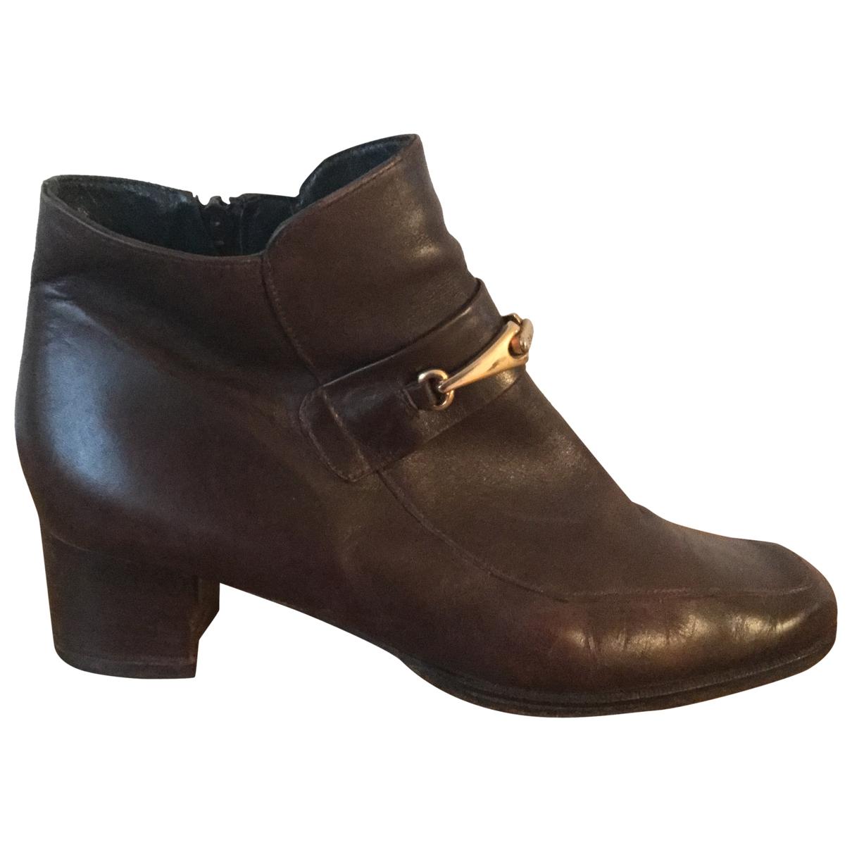 Bally - Boots   pour femme en cuir - marron