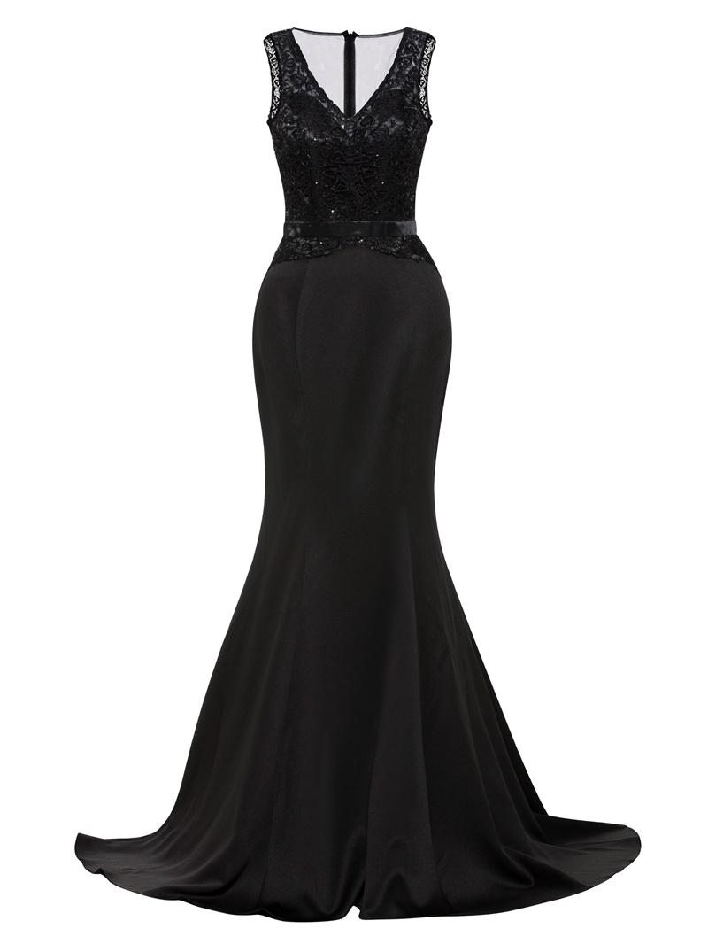 Ericdress V Neck Beaded Mermaid Evening Dress