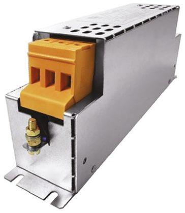 Block , HLD 110 12A 520 V ac 60Hz, Flange Mount RFI Filter, Screw