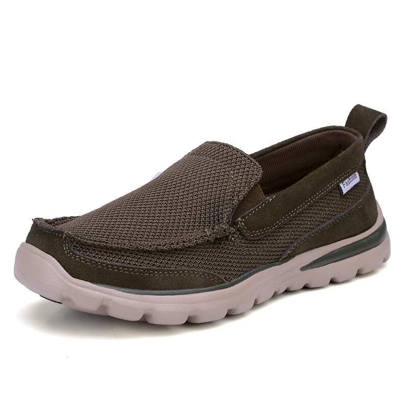 Men Old Peking Fabric Breathable Comfy Slip On Casual Shoes