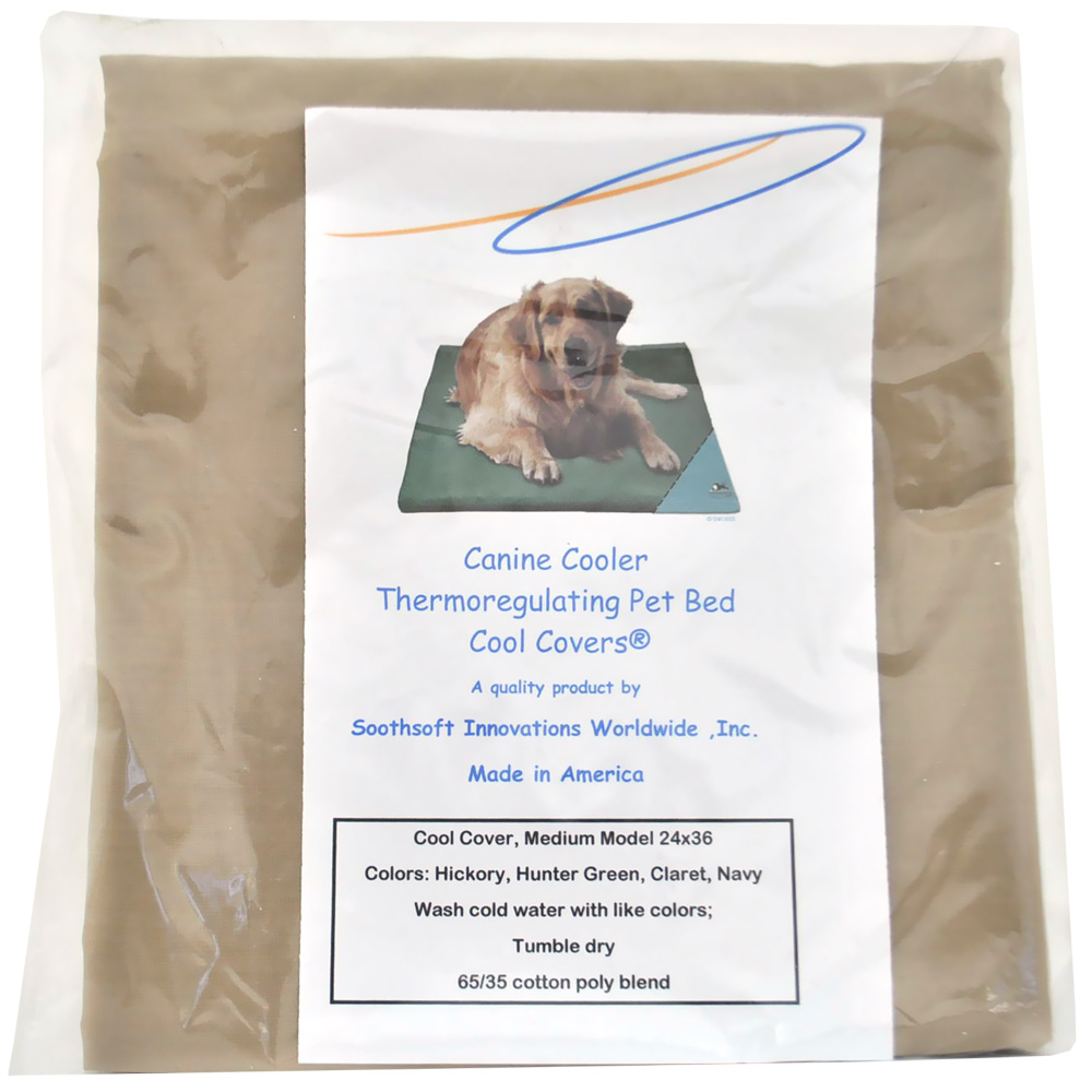 Canine Cooler Bed Cover Claret Neutral - Large