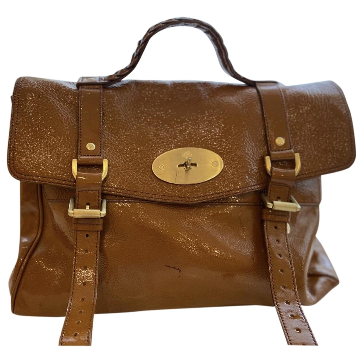 Mulberry Alexa Camel Patent leather handbag for Women \N