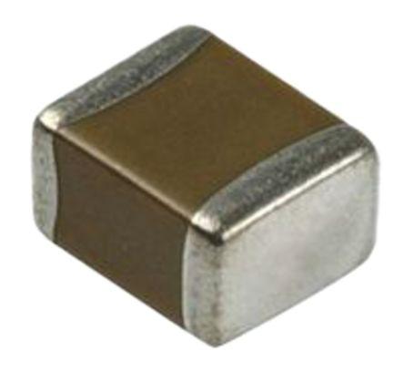 Murata , 0402 (1005M) 1μF Multilayer Ceramic Capacitor MLCC 25V dc ±10% , SMD GRM155B31E105KA12D (250)
