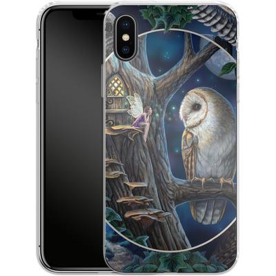 Apple iPhone X Silikon Handyhuelle - Owl Montage von Lisa Parker