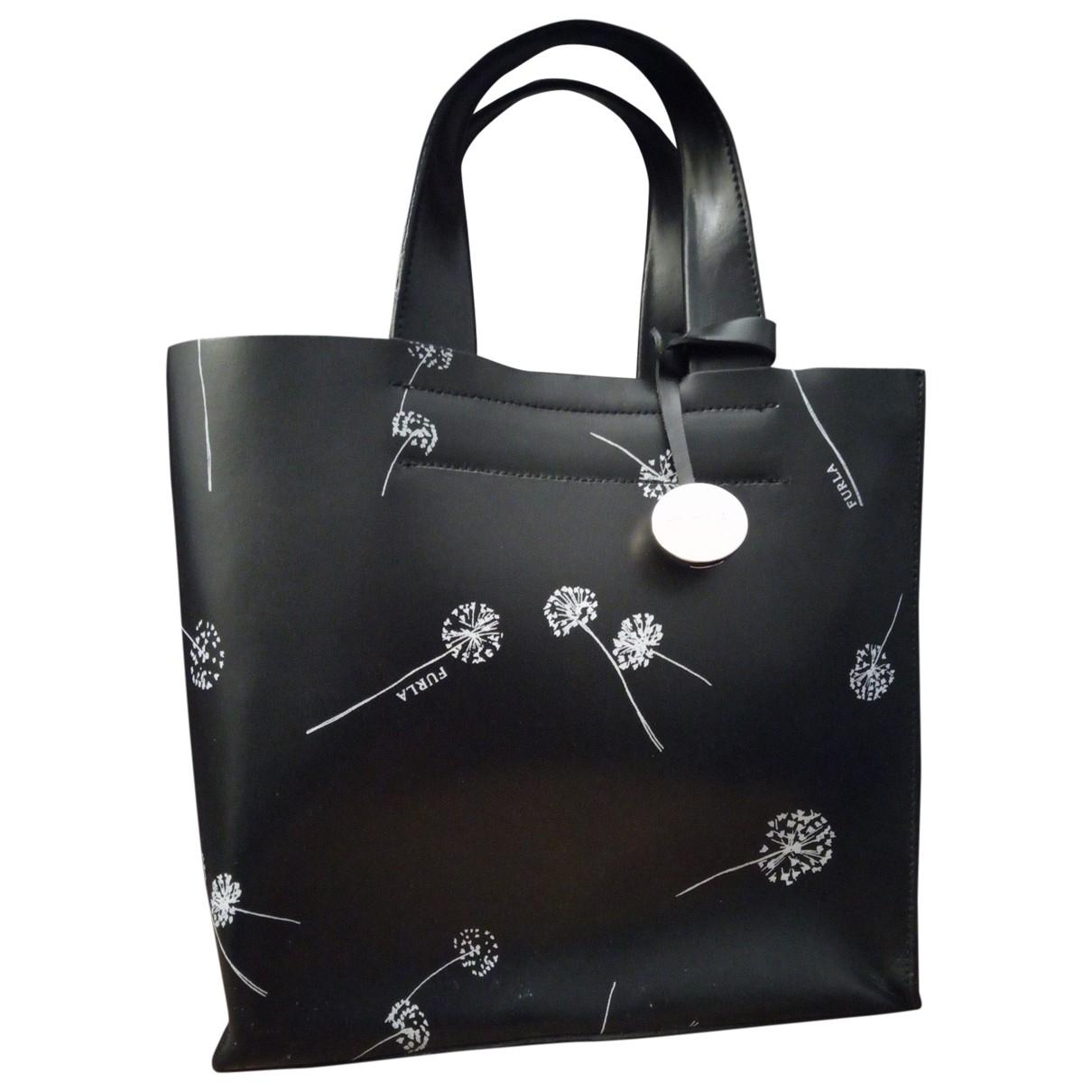 Furla \N Handtasche in  Schwarz Leder