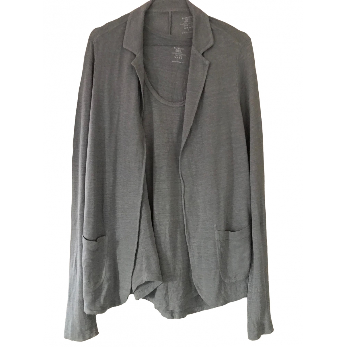 Non Signé / Unsigned \N Grey Linen Knitwear for Women 1 0-5