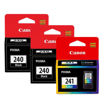 Canon PG-240 CL-241 5207B001 5209B001 Original Ink Cartridge Combo 2BK+1Color
